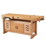Sjobergs Elite 2000 Wooden Workbench w/ Cabinet and Accessory Kit Combo