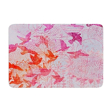East Urban Home Marianna Tankelevich Bird's Dream LavendarMemory Foam Bath Rug