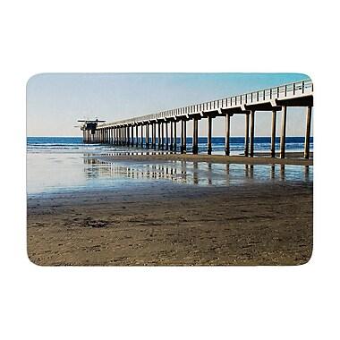 East Urban Home Nick Nareshni Scripps Beach Pier Coastal Photography Memory Foam Bath Rug