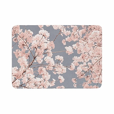 East Urban Home Iris Lehnhardt Rosy Sky Floral Memory Foam Bath Rug; 0.5'' H x 24'' W x 36'' D