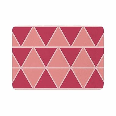 East Urban Home NL designs Coral Triangles Patterns Memory Foam Bath Rug; 0.5'' H x 24'' W x 36'' D