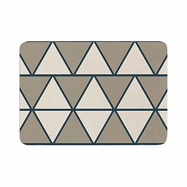 East Urban Home NL designs Sandstone Triangles Geometric Memory Foam Bath Rug