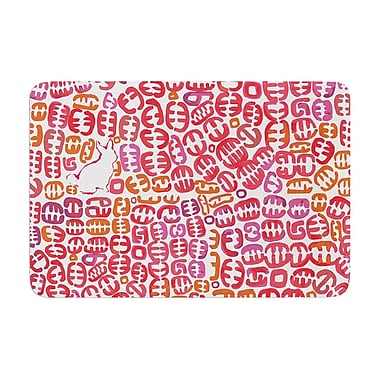 East Urban Home Theresa Giolzetti Oliver Magenta Memory Foam Bath Rug; Orange