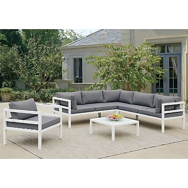 Brayden Studio Valencia 5 Piece Sectional Deep Seating Group w/ Cushion