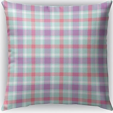 Latitude Run Malvina Plaid Indoor/Outdoor Throw Pillow; 26'' H x 26'' W x 4'' D