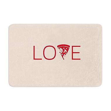 East Urban Home Slice of Love Memory Foam Bath Rug; 0.5'' H x 24'' W x 36'' D