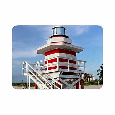 East Urban Home Philip Lighthouse Lifeguard Stand Photography Memory Foam Bath Rug