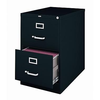 Latitude Run Holbrook 2-Drawer Commercial Legal Size File Cabinet; Black