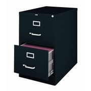 Latitude Run Holbrook 2-Drawer Commercial Legal Size File Cabinet; Black