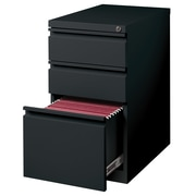 Latitude Run Holyoke 3-Drawer Mobile Pedestal; Black