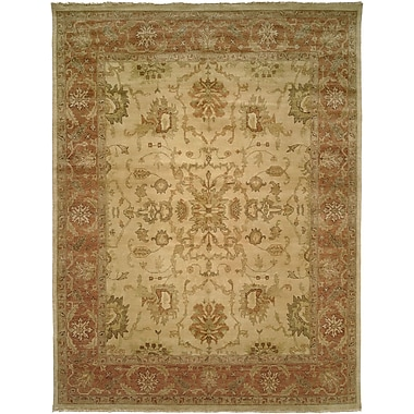 Wildon Home San Lucas Hand-Knotted Ivory Area Rug; 5' x 7'