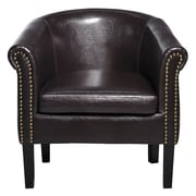 Charlton Home Newport Elegant Barrel Chair; Brown