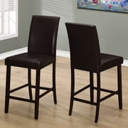 Red Barrel Studio Williamsburg 24'' Bar Stool (Set of 2); Brown