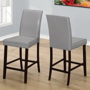 Red Barrel Studio Williamsburg 24'' Bar Stool (Set of 2); Grey