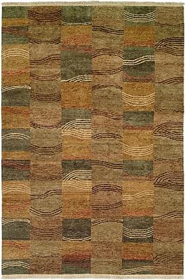 Wildon Home Namp'O Hand-Knotted Brown/Gray Area Rug; 3' x 5'