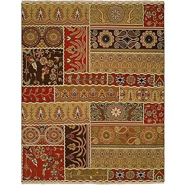 Wildon Home Sudan Hand-Woven Brown/Red Area Rug; 8' x 10'