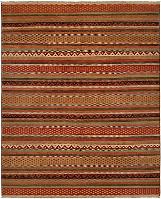Wildon Home Queensland Brown/Red Area Rug; Runner 2'6'' x 10'