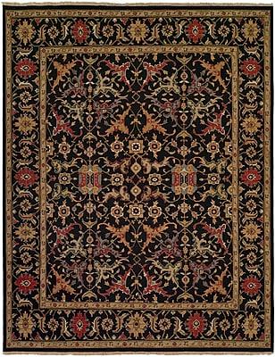 Wildon Home Napier Hand-Woven Black/Brown Area Rug; 10' x 14'