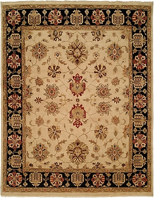 Wildon Home Vladivostok Hand-Knotted Ivory/Brown Area Rug; 4' x 6'