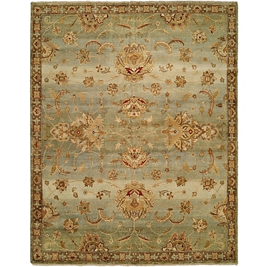 Wildon Home Auckland Hand-Knotted Blue/Gold Area Rug; Runner 2'6'' x 12'