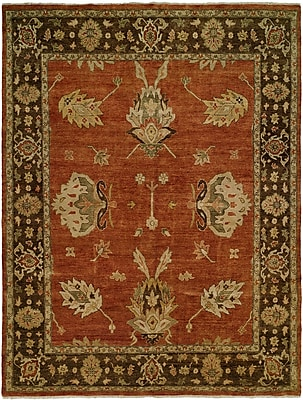 Wildon Home Callao Hand-Knotted Brown/Red Area Rug; 8' x 10'