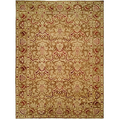 Wildon Home Mina Hand-Knotted Brown/Ivory Area Rug; 6' x 9'