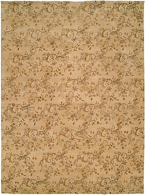 Wildon Home Salman Hand-Knotted Beige Area Rug; 6' x 9'