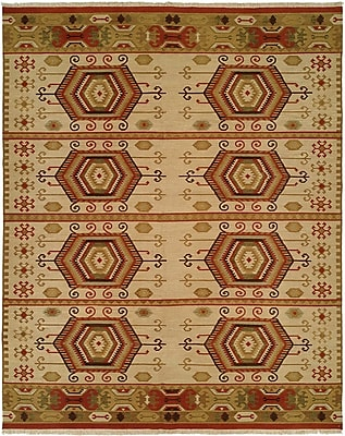 Wildon Home Qinhuangdao Hand-Woven Beige/Red Area Rug; 2' x 3'
