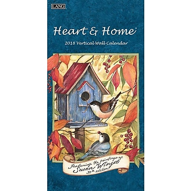 Lang 2018 Vertical Wall Calendar Heart & Home® Premium Quality, 13 3/8