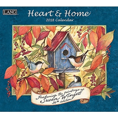 Lang 2018 Wall Calendar Heart & Home®Premium Quality Linen Embosed Paper Stock, 13 3/8