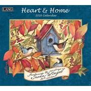 Lang - Calendrier mural Heart & Home® 2018, papier gaufré de luxe à base de lin, 13 3/8 larg. x 24 haut. ouvert
