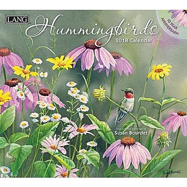Lang 2018 Wall Calendar Hummingbirds Premium Quality Linen Embosed Paper Stock, 13 3/8