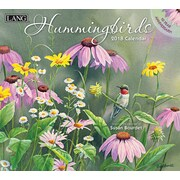 Lang - Calendrier mural Hummingbirds 2018, papier gaufré de luxe à base de lin, 13 3/8 larg. x 24 haut. ouvert