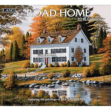 Lang 2018 Wall Calendar Road Home Premium Quality Linen Embosed Paper Stock, 13 3/8