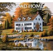 Lang - Calendrier mural Road Home 2018, papier gaufré de luxe à base de lin, 13 3/8 larg. x 24 haut. ouvert