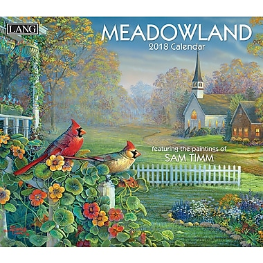 Lang 2018 Wall Calendar Meadowland Premium Quality Linen Embosed Paper Stock, 13 3/8