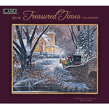 Lang 2018 Wall Calendar Treasured Times Premium Quality Linen Embosed Paper Stock, 13 3/8