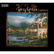 "Lang 2018 Wall Calendar Terry Redlin Premium Quality Linen Embosed Paper Stock, 13 3/8""W X 24""H Opened."