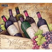 Lang - Calendrier mural Wine Country 2018, papier gaufré de luxe à base de lin, 13 3/8 larg. x 24 haut. ouvert