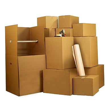 Uboxes Wardrobe Moving Boxes Kit #4, 4-5 Rooms