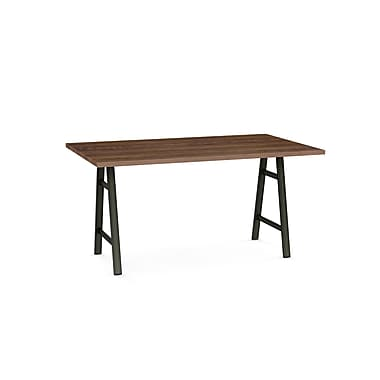 Bridgeport Table, Semi-trans. Metal & Brown Top