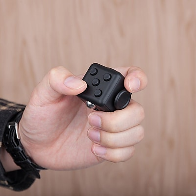 Fidget Cube Anxiety and Stress Reliever Focus Toy, Black
