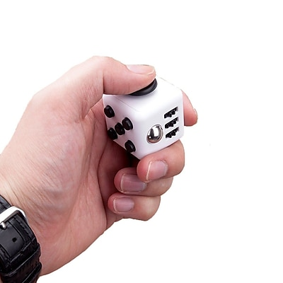 Fidget Cube Anxiety and Stress Reliever Focus Toy, White