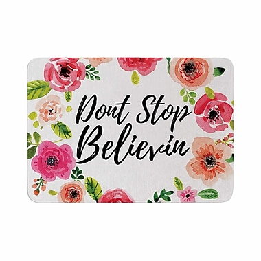 East Urban Home Don't Stop Believin Coral Memory Foam Bath Rug; 0.5'' H x 17'' W x 24'' D