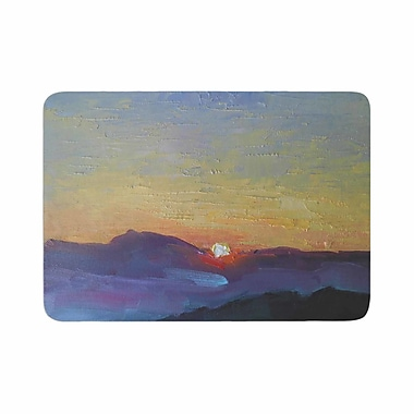 East Urban Home Carol Schiff Mountain Sunset Memory Foam Bath Rug; 0.5'' H x 17'' W x 24'' D
