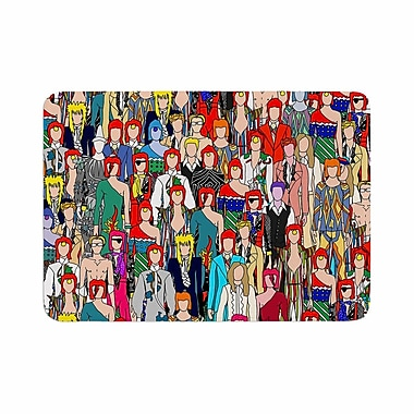 East Urban Home Notsniw Where's Bowie? Memory Foam Bath Rug; 0.5'' H x 24'' W x 36'' D
