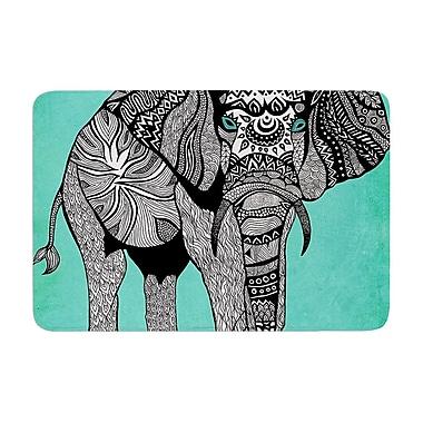 East Urban Home Pom Graphic Design Elephant of Namibia Color Memory Foam Bath Rug; Blue