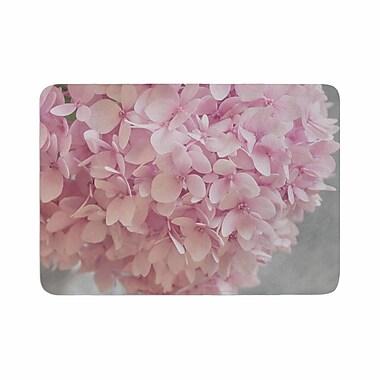East Urban Home Suzanne Harford Hydrangea Flowers Floral Memory Foam Bath Rug