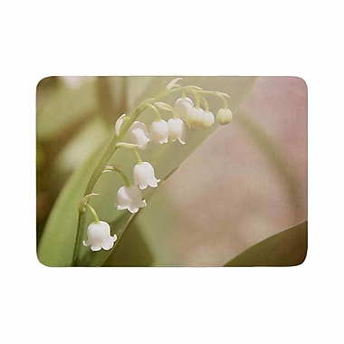 East Urban Home Angie Turner Lily of the Valley Memory Foam Bath Rug; 0.5'' H x 24'' W x 36'' D