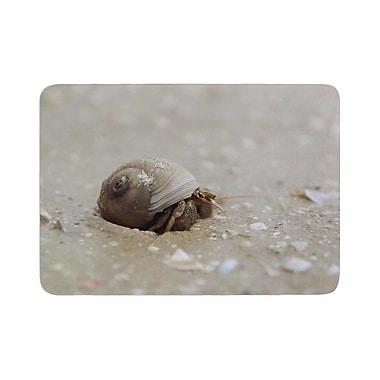 East Urban Home Angie Turner Hermit Crab Photography Memory Foam Bath Rug; 0.5'' H x 24'' W x 36'' D